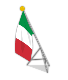 イタリア国旗ポール