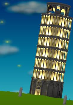 コイコイピサの斜塔設置例