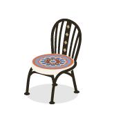 モザイクタイル椅子