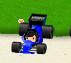 ミニレーシングカー 青