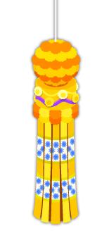 仙台七夕吹流し橙