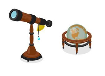 天体望遠鏡クラシック・地球儀クラシック