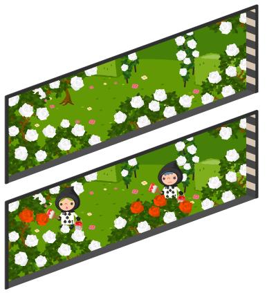 アリスのバラ園の窓小Lv2・アリスのバラ園の窓小Lv最大