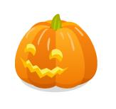 かぼちゃランタンギザ口