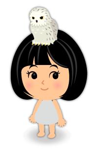 頭のせフクロウ