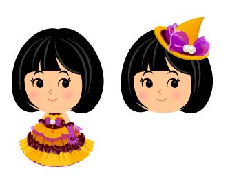 パンプキンカラードレス・とんがり帽イエロー