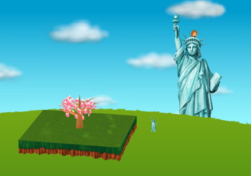 コイコイ女神の像 設置例