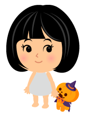 手持ちかぼちゃ人形紫