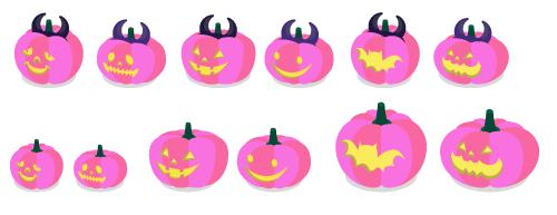 かぼちゃツノピンクA・かぼちゃツノピンクB・かぼちゃツノピンクC・かぼちゃツノピンクD・かぼちゃツノピンクE・かぼちゃツノピンクF・かぼちゃピンクA・かぼちゃピンクB・かぼちゃピンクC・かぼちゃピンクD・かぼちゃピンクE・かぼちゃピンクF