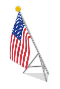 USA国旗ポール