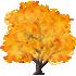 光るおばけカエデの木 橙