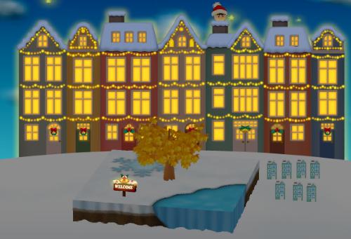 コイコイ北欧クリスマスタウンおよびウェルカム板 Xmasベル 設置例