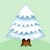 クリスマスのモミの木 大 白