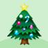 クリスマスのモミの木 飾り