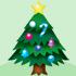 クリスマスのモミの木 大 飾り