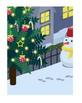 背景:クリスマスの庭