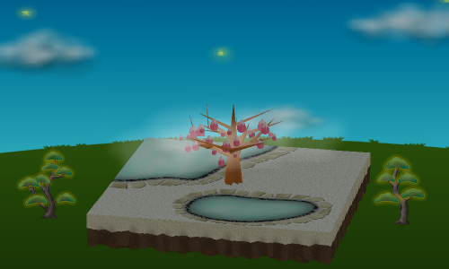 光る松の木A/光る松の木B 設置例