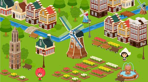 春のオランダ全体イメージ