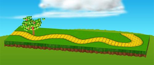 オズの黄色い小道シート 設置例
