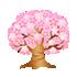 光る桜の木 濃ピンク