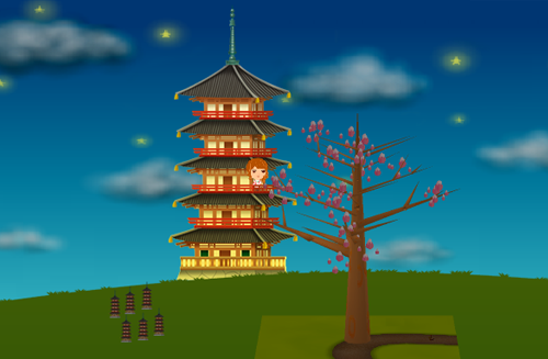 コイコイ五重塔 設置例