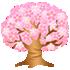 光る桜の木 大 濃ピンク