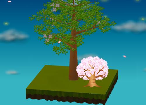 光る桜の木 大 薄ピンク 設置例