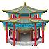 中華風の寺