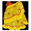 インド衣装サリー 黄