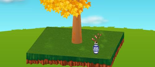 梅をいけた壺 設置例