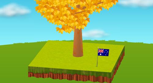 オーストラリア国旗 設置例