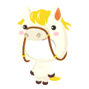 白馬の着ぐるみ