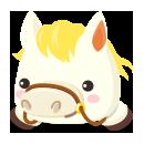 頭のせ白馬