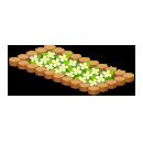 丸太の花壇大 白