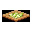 丸太の花壇 白