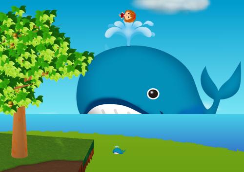 コイコイ潮吹きクジラ 設置例