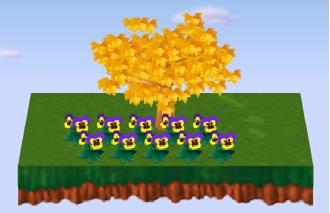 パンジー 黄 × 10 設置例