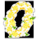 ハワイアンレイ白