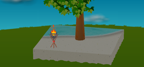 かがり火 設置例