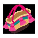 ボヘミアンフリンジバッグ ピンク