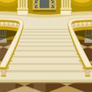 背景:お城の大階段
