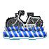 水上自転車 青縞