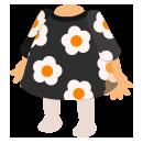 レトロワンピ 花柄ブラック