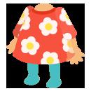 レトロワンピ 花柄レッド
