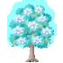 クリスタルの木