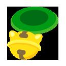 鈴つき首輪 緑