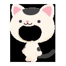 猫の着ぐるみ ぶち