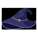 魔女ハット ジュエル紫