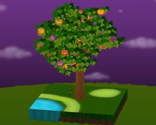 デコデコノキ(ハロウィンの森シート用) 設置例