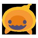 頭のせゴースト オレンジ
